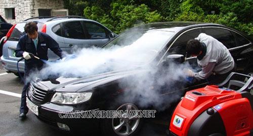 Công nghệ rửa xe ô tô bằng hơi nước nóng