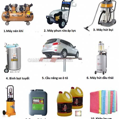 Kinh nghiệm mở tiệm rửa xe ô tô cần những dụng cụ gì?
