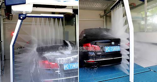 Hệ thống rửa xe ô tô tự động dùng vòi phun áp lực