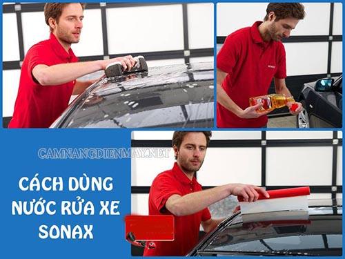 Sử dụng nước rửa xe Sonax để hiệu quả làm sạch xe đạt chất lượng tốt nhất