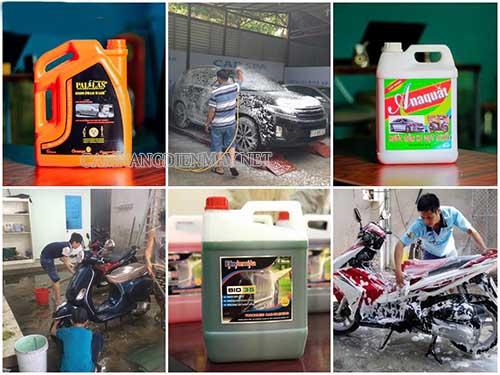 Sử dụng nước rửa xe chuyên dụng để rửa xe mang lại hiệu quả cao