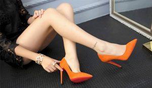 cách làm sạch giày cao gót