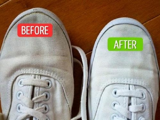 Vệ sinh giày bằng baking soda mang lại hiệu quả bất ngờ