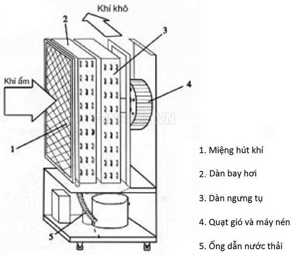 nguyên lý máy hút ẩm
