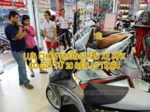 Top những mẫu xe máy giá từ 10 đến 15 triệu