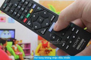 lỗi tivi sony không nhận điều khiển