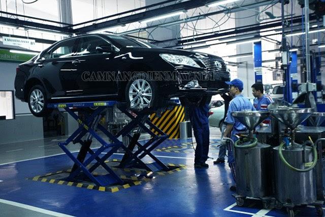 Máy nén khí trong bảo dưỡng, sửa chữa ô tô