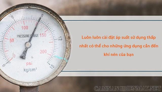 Hướng dẫn cách cài đặt áp suất cho máy nén không khí