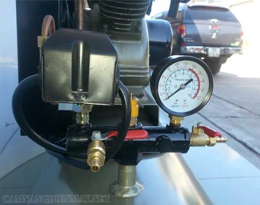 Điều chỉnh áp suất máy nén không khí qua relay