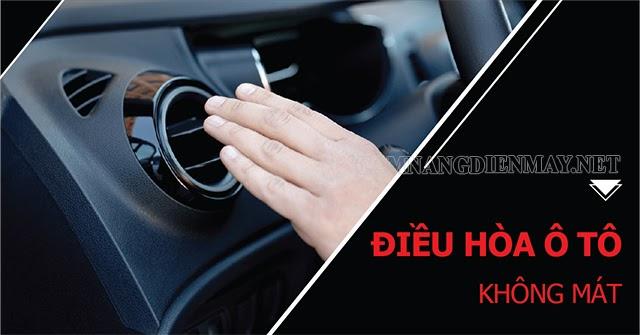Điều hòa ô tô không mát có thể do thừa/thiếu gas