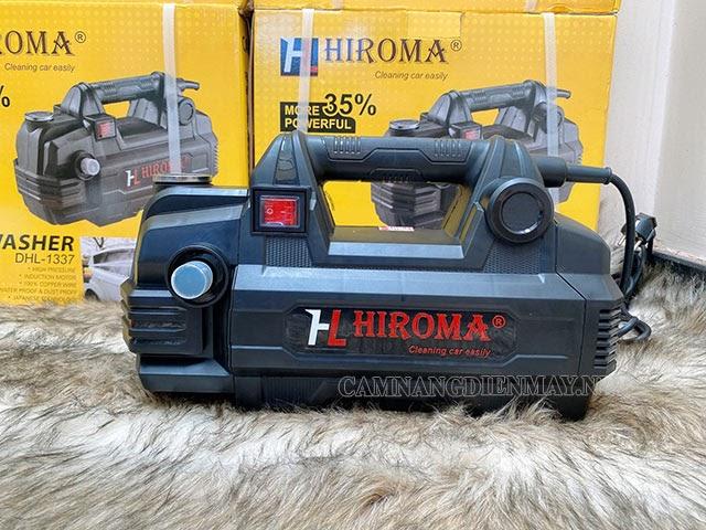 Máy xịt rửa xe gia đình của Hiroma có thiết kế gọn gàng, đẹp mắt