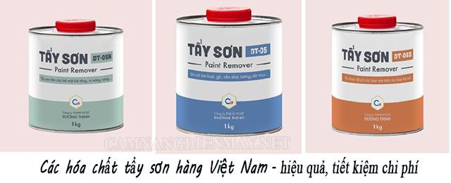 Một số hóa chất của Việt Nam cũng cho hiệu quả vệ sinh sơn rất tốt