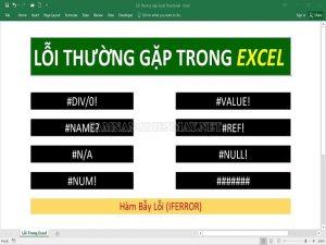 Lỗi #DIV/0 là một trong những lỗi thường mắc phải trong Excel