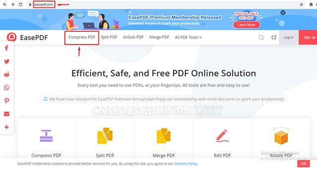 Cách chuyển đổi trực tuyến bằng Ease PDF Online