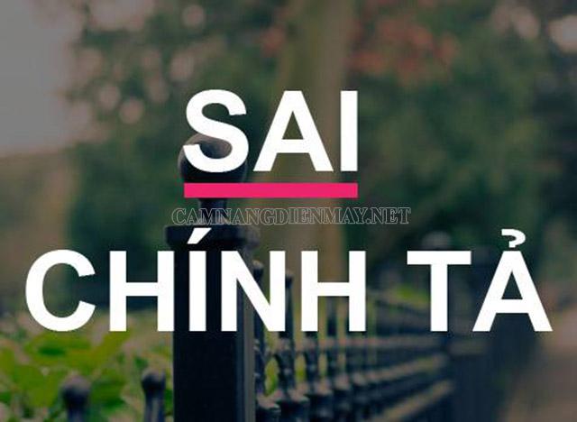Tiếng Việt rất phong phú nên không thể tránh khỏi việc sai chính tả