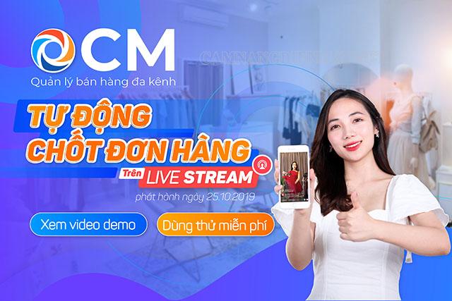 Phần mềm live stream hỗ trợ bán hàng OCM
