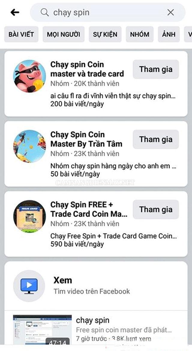 Hướng dẫn cách chạy spin coin master trên facebook
