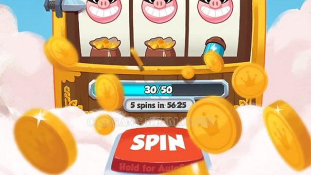 Tham gia vào xem quảng cáo của Coin master để nhận thêm spin