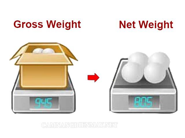 Phân biệt khối lượng tịnh và trọng lượng tịnh là gì?