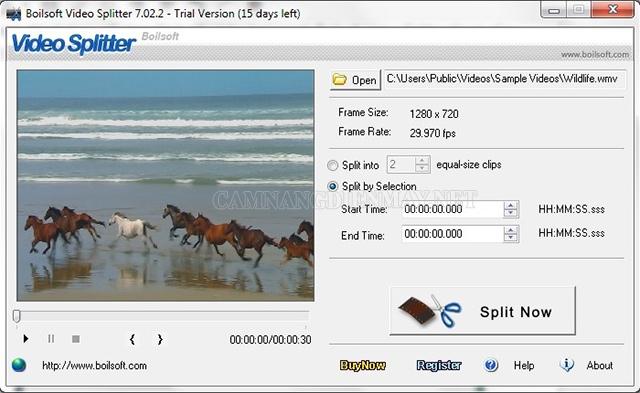 Phần mềm Boilsoft Video Joiner có tính năng gộp nhiều video khác định dạng