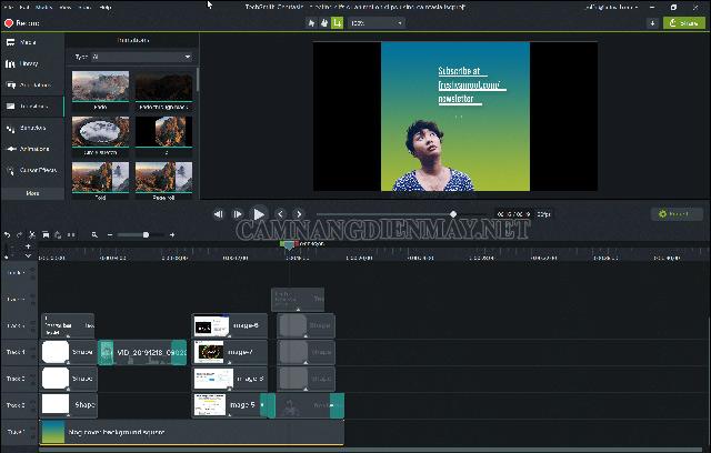 Phần mềm ghép nhạc vào video Camtasia studio