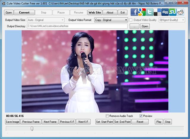 Phần mềm cắt ghép video tốt nhất hiện nay Cute Video Cutter
