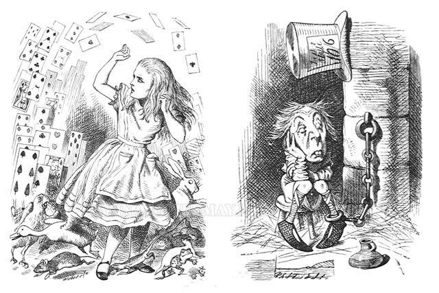 Những bức họa tinh tế từng chi tiết, từng nét phác thảo của John Tenniel