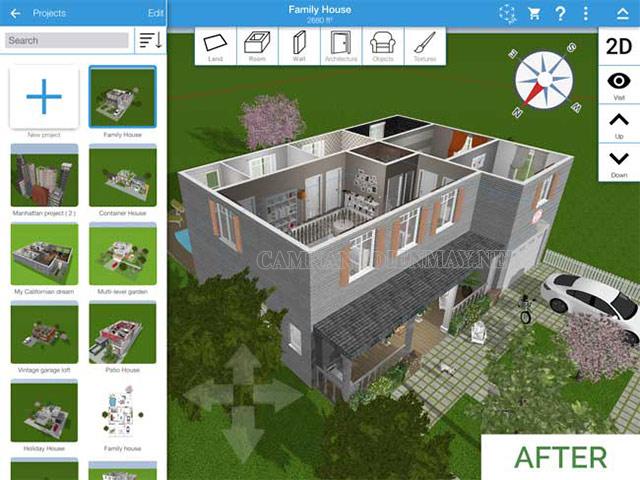 Tính năng nổi bật trong thiết kế của phần mềm Home Design
