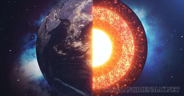 Lõi (nhân) của Trái Đất có nhiệt độ cực cao