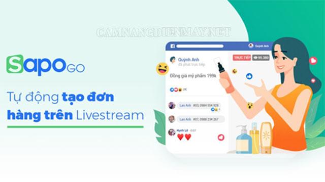 Ứng dụng chốt đơn livestream Sapo