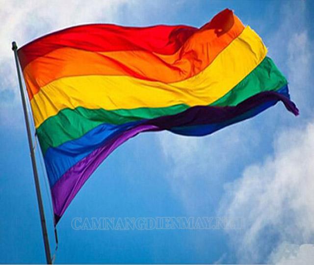 Lá cờ lục sắc với 6 màu thể hiện cho 6 ý nghĩa khác nhau