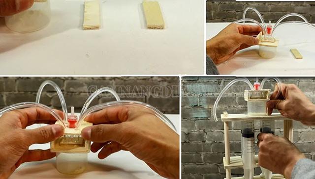 Bộ phận tách nước của máy nén tự làm
