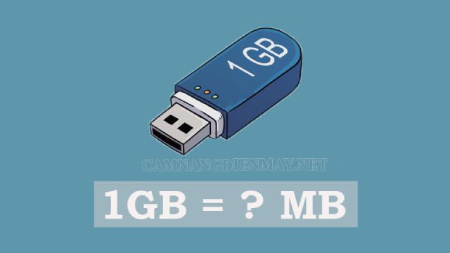 1gb bằng bao nhiêu mb