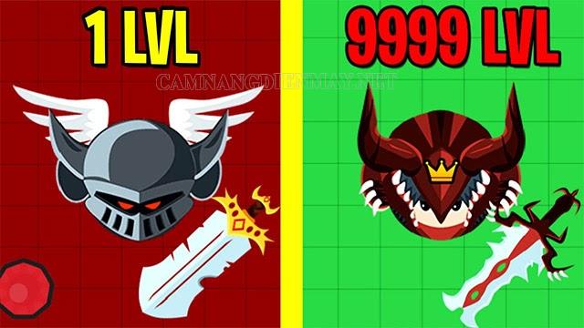 Muốn thăng cấp Evowars phải giết các đối thủ và thu thập kẹo