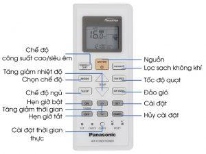 Bảng điều khiển điều hòa Panasonic