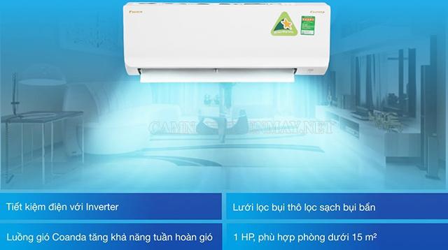 Máy lạnh Daikin Inverter 1HP ATKA25UAVMV